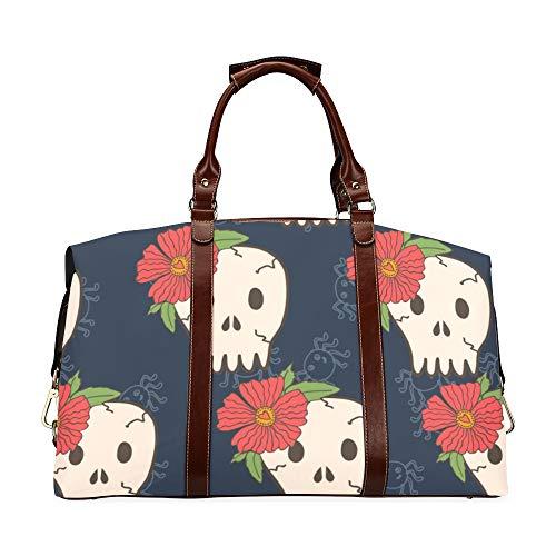 Semplice borsone da sposa Halloween Vector Seamless Endless Classic oversize impermeabile in pelle PU Carry On Duffel Bag Uomo Borsa da notte