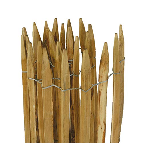Videx-Staketenzaun Kastanie Normandie, 7-8cm Lattenabstand,100 x 300cm