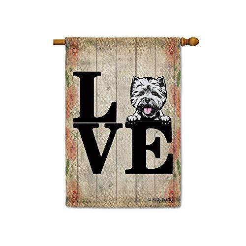House Flag West Highland White Terrier Banner for Terrier Lovers