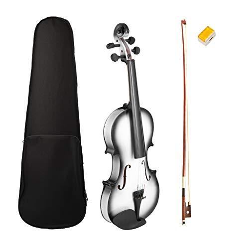 dailymall 4/4, 3/4 Violine Geige mit Violinenkoffer, Bogen, Kolophonium für Anfänger, Erwachsene und Kinder, Schwarz - 3/4