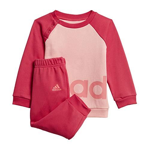 adidas I Lin Jogg FL, Tuta Unisex Bimbi, Glory Pink/Power Pink/Signal Pink, 2-3Y