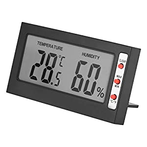 Tyenaza Termometro Digitale Portatile, igrometro Digitale LCD 0~50 10% UR ~ 99% UR con misurazione accurata per testare la Temperatura e l'umidità all'Interno
