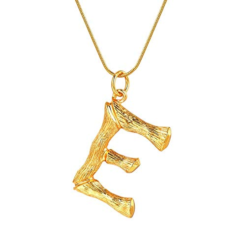 NSXLSCL Vrouwen Hanger Ketting, Grote Letters E Goud Hanger Kettingen Voor Vrouwen Met Snake Chain Engels Letter Sieraden Beste