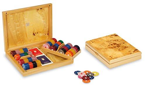 Dal Poker Set Aspen 29.5 x 23 cm Wood Brown/White 6-Piece