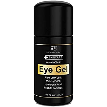 Radha Beauty Eye Cream for Puffiness, Dark Circles, Wrinkles and Bags - The Most Effective Eye Gel for Every Eye Concern - All Natural Ingredients - 0.5 fl oz