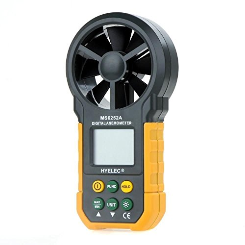 HYELEC MS6252A Multifunction Digital Anemometer/Air Volume with LCD Screen and Backlight by HYELEC