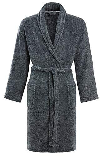 STONEBRIDGE - Albornoz con capucha para hombre Plateado