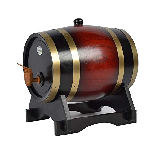 Decantador De Whisky Decantador De Licor Cristal Dispensador De Whisky Barril, Roble Envejecimiento Barriles Inicio Barril del Whisky La Jarra For El Vino, Licores, Cerveza Y Licor, 5L, Color Retro