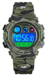 commercial Tonie Watch Children's Sports Watch Multifunctional Digital Watch Color LED Display Waterproof … children waterproof watches
