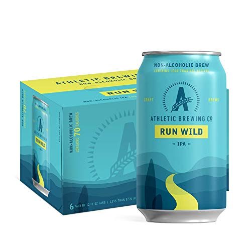 Athletic Brewing Company Craft NA - 12 Pack x 12 Fl Oz Cans - Run Wild IPA - Low-Calorie, Award Winning - The Ultimate Sessionable IPA Subtle Yet Complex Malt Profile