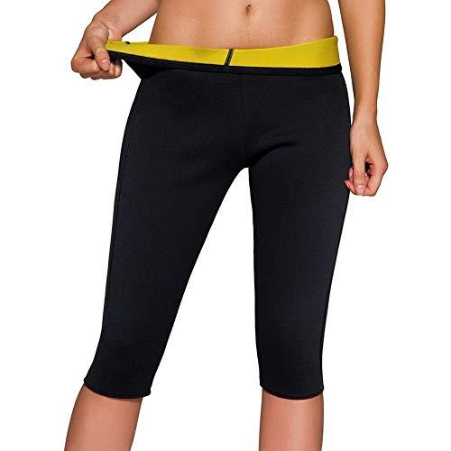 XiuLi Womens Hot Sweat Thermo Pants, Neopren-Unterkörperformer, Bequeme Shapewear zum Abnehmen, Workout-Saunaanzug, Beste Oberschenkel schlanker zur Gewichtsreduktion (Color : Black, Size : 3XL)