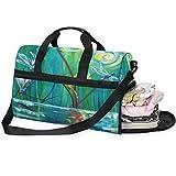 QMIN - Bolsa de viaje con cremallera y correa para mujer, diseño de libélula