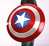 BABOOK -Metal America Adult Shield 1:1 Replica Cosplay Props,Aviation Aluminum Alloy Decoration, Including Holder