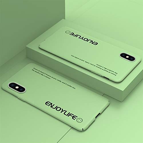 ZALE Kratzfest Kompatibel mit iPhone 11 Fall, ultradünne bereifte Harte Shell TPU iPhone 7/8 Max-Hüllen-Abdeckung for iPhone X/Xs Max und viele andere Modelle perfekte Optik (Color : XR Matcha Green)