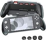 OIVO Funda Grip Case para la Nintendo Switch Lite, asimétrico Carcasa de Protección con 4 Ranuras...