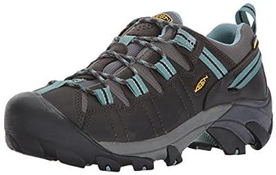 KEEN Women's Targhee II Outdoor Shoe, Black Olive/Mineral Blue, 8 B - Medium