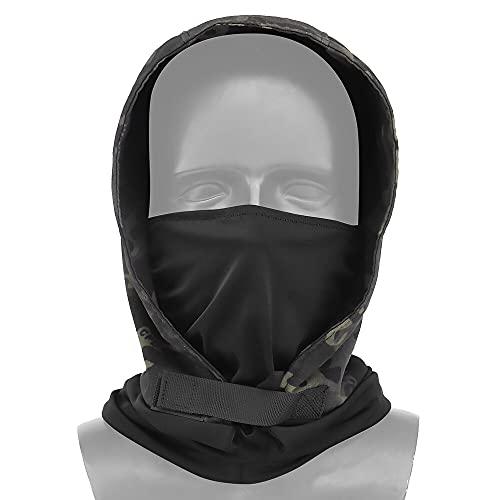 KODENOR Tactical de la Cabeza con la mascarilla for los Hombres Airsoft Paintball Caza Protección de Tiro (Color : MA-135-BCP)