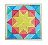 B&Julian- Puzzle de geometría, Multicolor, 40 Teile (Zaprori GmbH MZ1106-4530)