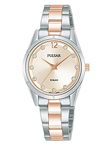 Pulsar Casual Womens Analog Quartz Watch with Stainless Steel Bracelet PH8505X1
