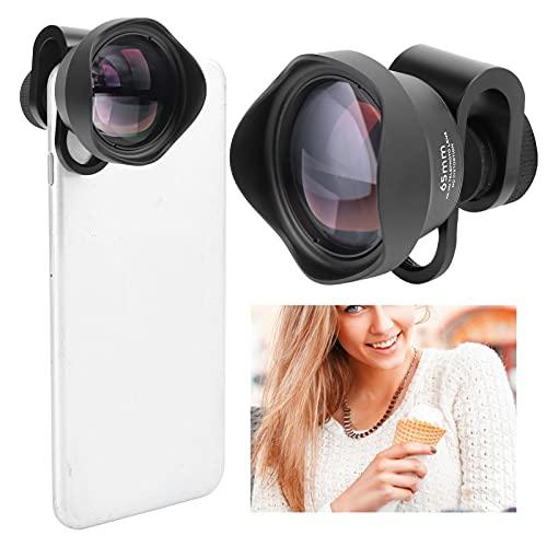 FOLOSAFENAR Lente de Retrato telefoto para teléfono, Lente de Retrato para teléfono móvil Lente de Vidrio óptico asférico con una Bolsa de Almacenamiento para teléfonos/iOS Pad