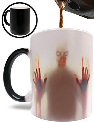 Authentic Zombie MugFear the Dead Inspired 11oz Grade A Quality Ceramic Heat Sensitive Color Changing Mug/Cup by Monster Mugs - Perfect Gift