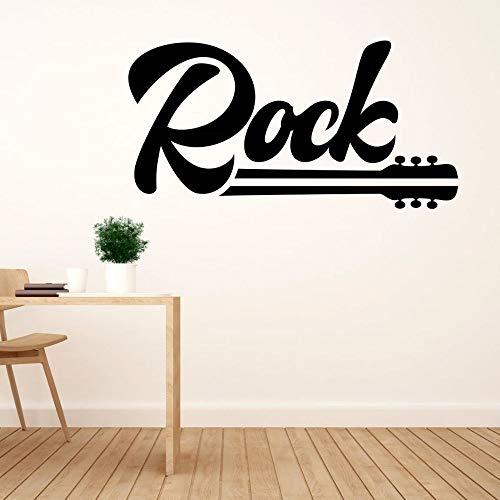 yaonuli Rock und Gitarre Wandtattoo Aufkleber für Zuhause und Musikzimmer Dekoration 57x30cm