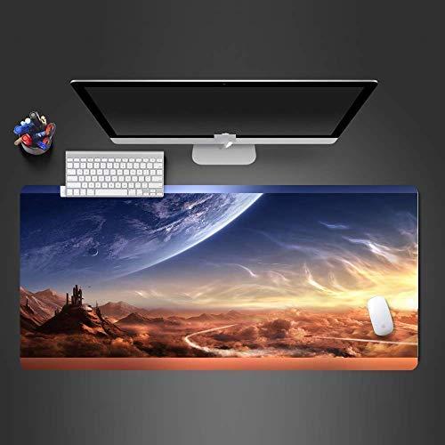 Alfombrilla de ratón Gaming Mouse Pad Mars con base de goma antideslizante, alfombrilla para teclado para escritorio de computadora...
