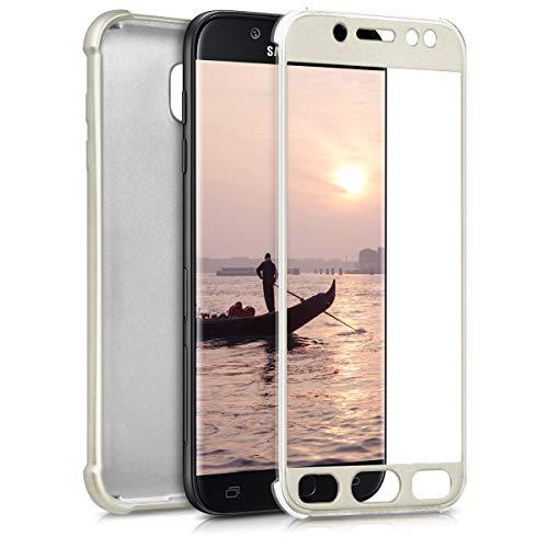 kwmobile Funda Compatible con Samsung Galaxy J5 (2017) DUOS - Carcasa de ambas Caras para móvil en Oro Metalizado