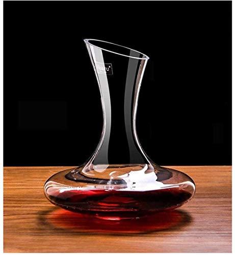 Decantador de vino de cristal hecho a mano, decantador de cristal de cristal doméstico, decantador con asa, dispensador de vino tinto libre de plomo, jarra de vino tinto, botella de vino tinto