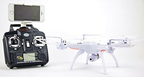 NCC Syma x5sw WiFi FPV Real de Time cuadricóptero con 2MP cámara UFO con vídeo Live de transferencia headless Mode 2.4G 4CH 6Eje de modelo más reciente En Color Blanco