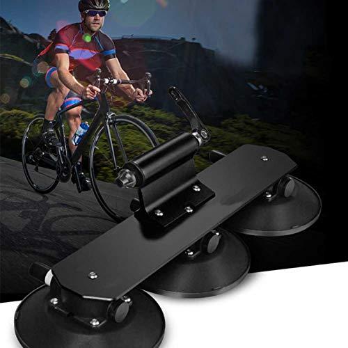 DAUERHAFT Portabicicletas con Ventosa Soporte para Bicicleta de succión en el Techo del Coche para la mayoría de los automóviles, para Bicicletas de montaña