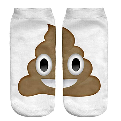Fashion Hosiery 3D Poop Emoji Print Men Women Socks Cool Ankle Crew Socks Pretty Kids Slipper Socks