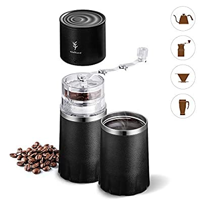 Soulhand All-in-One Coffee Mill& Coffe Cup Portable Coffee Grindder Manual Coffee Grinder All in One Coffee Maker Travel Mug with Ajustable Ceramic Burr