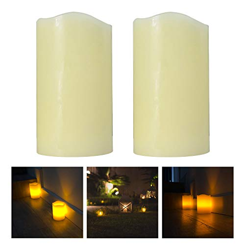 Mooncandles Duo - 2 Real Wax Flameless Candles with Timer