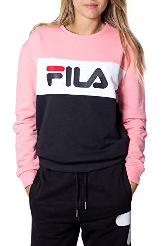 Fila Leah Crew Sweat Ladies Sweatshirt Black-Pink