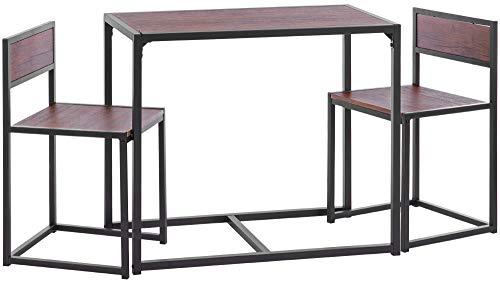 ts-ideen 3-teiliges Set Essgruppe Frühstückstisch Tisch 2 Stühle Küche Esstisch für Esszimmer Küche Studentenwohnung