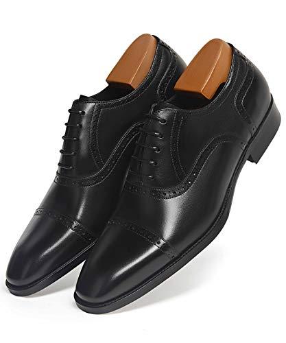 Men's Dress Shoes Oxford Formal Modern Leather Shoes for Men 11 Black