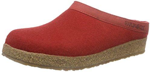 Haflinger Unisex-Erwachsene Grizzly Torben Pantoffeln, Rot (Rubin 11), 39 EU