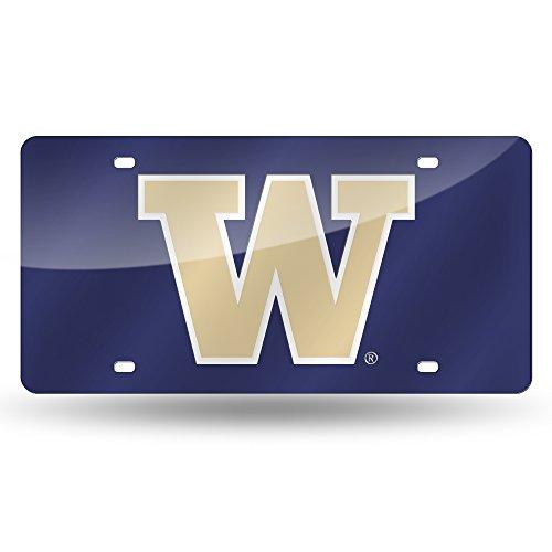 Rico Industries NCAA Washington Huskies Laser Inlaid Metal License Plate Tag