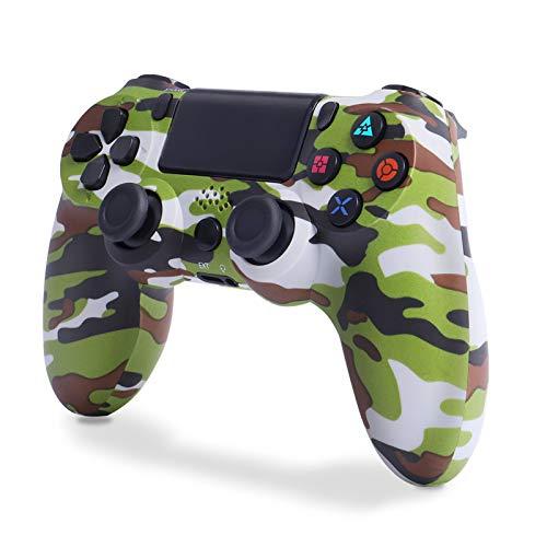 Controller per PS4, Wireless Joystick Playstation 4, Controller di Gioco Senza Fili con Joypad del Dualshock per PS4 PRO/Slim e PC (Verde Camuffare)