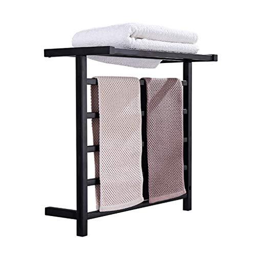 DYB Toallero eléctrico, 60-70w, Temperatura Constante Inteligente, Negro, protección del Medio Ambiente, Estante de baño a Prueba de Humedad, secador de baño
