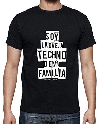 latostadora - Camiseta Oveja Techno Black para Hombre