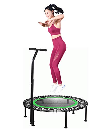 Fitness Trampoline for Adults - 42 Inches Indoor Aerobic Exercise Rebounder Jumping Trampolines with Height Adjustable Handle, User Weight Up to 250KG, suitable for Kids, Home, Gym, Garden, or Outdoor