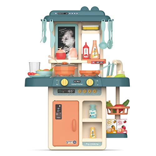 Toddler Kitchen Play Set Toys, Role Play Easy Bake Oven Pretend Playset with Real Cooking and Water Boiling Sounds, Kitchen Accessories Kit for Boys & Girls (Multicolour, US Direct)