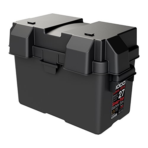 NOCO HM327BKS Group 27 Snap-Top Battery Box For Marine, RV, Camper And Trailer Batteries , Black