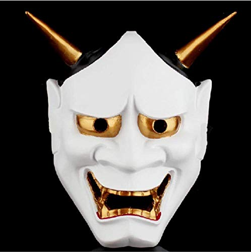LIJING Halloween Horror Maskers Vintage Japanse boeddhistische kwaad Oni Noh Hannya Masker Kostuum