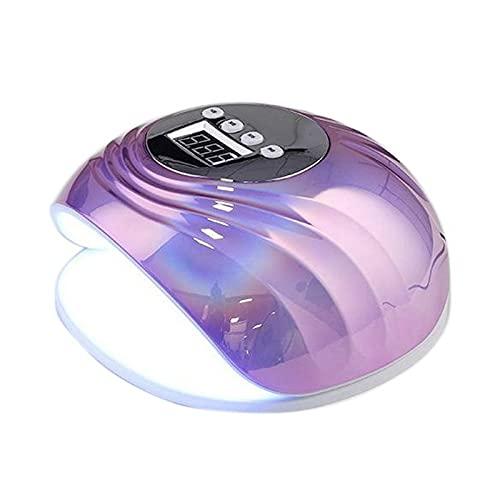 SODIAL Lampe à Ongles UV LED 86W, Gel de Vernis à Ongles Professionnel, LumièRe de Vernis à Ongles Rapide, SèChe-Ongles en Gel - Violette ColoréE Prise EuropéEnne