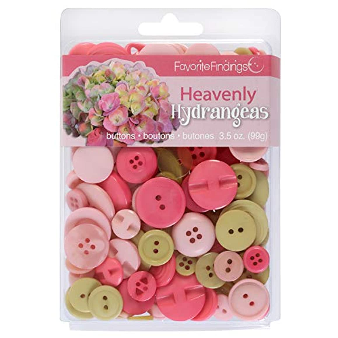 Blumenthal Lansing 3.5oz, Hydrangea Clamshell Buttons,