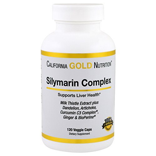 California Gold Nutrition, Silymarin Complex Milk Thistle Extract Plus, 300 mg, 120 Veggie Caps, Milk-Free, Fish Free, Gluten-Free, Peanut Free, Soy-Free, Sugar-Free, Wheat-Free, Yeast-Free, CGN