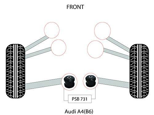 PSB Bush A4/B6 (01-06) Kit de buje interior del brazo inferior delantero - PSB731